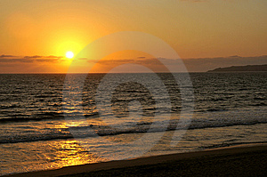 Pacific Coast Sunset In Mexico Royalty Free Stock Photo - Image: 8669175