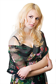 Portrait Of The Beautiful Blonde. Stock Photos - Image: 8669343