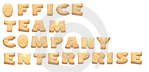 The Words Made Of Cookies Stock Photos - Image: 8669603
