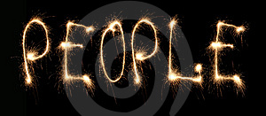 Word People Written Sparkler Royalty Free Stock Photos - Image: 8669728