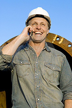 Happy Builder Stock Image - Image: 8670651
