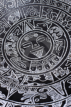 Aztec Calendar Royalty Free Stock Images - Image: 8670679