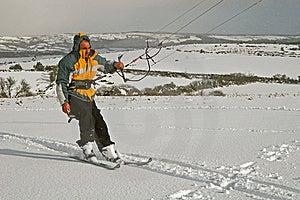 Kite Skiing Royalty Free Stock Image - Image: 8672076