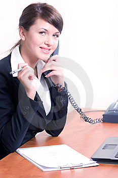 Young Beautiful Woman In Office Environment Stock Photo - Image: 8672580
