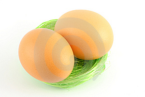 Eggs In Nest Royalty Free Stock Image - Image: 8673286