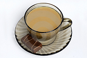White Coffee And Sweets Royalty Free Stock Image - Image: 8674696