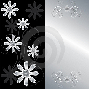 Stylish Floral Card Stock Images - Image: 8677274