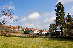 Small Houses In Spring Stock Image - Image: 8679191