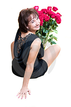 Girl With Rose Stock Image - Image: 8679841
