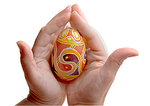 Colorful Easter Egg In Palms. Royalty Free Stock Photography - Image: 8680847