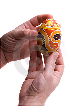 Colorful Easter Egg In  Hands. Stock Images - Image: 8680854