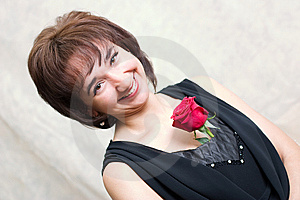 Girl With Rose Royalty Free Stock Photography - Image: 8681207