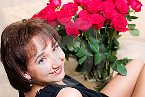 Girl With Rose Stock Images - Image: 8681344