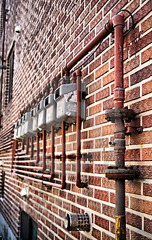 Gas Meters Royalty Free Stock Photo - Image: 8681435