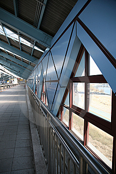POst-Modern Blue Subway Station Royalty Free Stock Photography - Image: 8681507