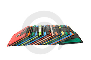 Colored Floppy Disk Royalty Free Stock Photos - Image: 8684928