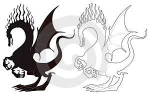 Black And White Dragons Stock Image - Image: 8685241