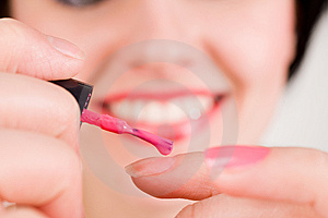 Red Nail Polish Royalty Free Stock Image - Image: 8686176