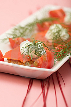 Salmon Hor D'oeuvre Stock Photography - Image: 8686482