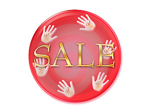 Sale Icon Isolated On White Background Stock Photo - Image: 8687570
