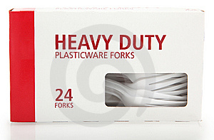 Box Of Plastic Forks Royalty Free Stock Images - Image: 8689549