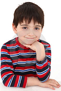 Bored Grin Stock Image - Image: 8689591