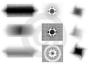 9 Circular Fades Royalty Free Stock Image - Image: 8691826
