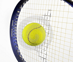 Tennis Ball And Racquet Royalty Free Stock Images - Image: 8691959