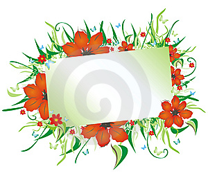 Floral Frame Card Royalty Free Stock Image - Image: 8692476