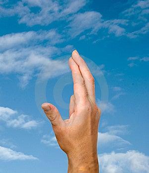Fingers Symbolizing Good Luck Stock Image - Image: 8693051