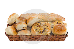 Bakery Goods In Basket Stock Photography - Image: 8693382