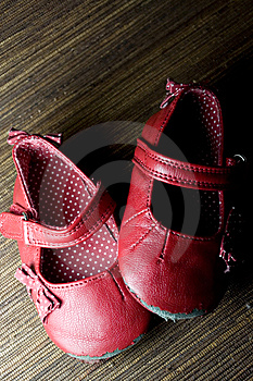 Worn Baby Girl Shoes Royalty Free Stock Images - Image: 8693459