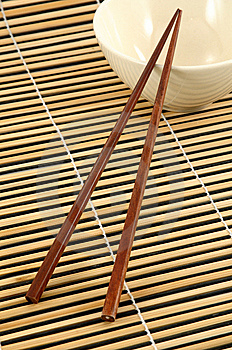 Chopstick And Bowl Royalty Free Stock Image - Image: 8694046