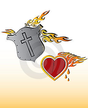 Heart And Shield Royalty Free Stock Photography - Image: 8696007