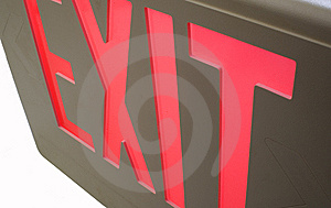 Exit Sign Royalty Free Stock Photography - Image: 8697227