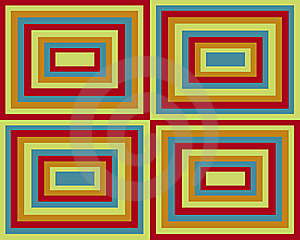 Retro Symmetrical Squares Background Royalty Free Stock Images - Image: 8697349