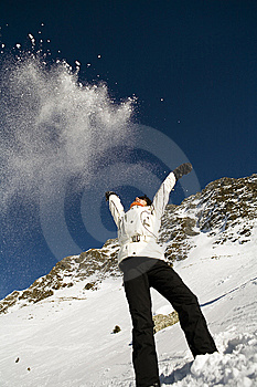 Woman In Mountain Stock Image - Image: 8699701