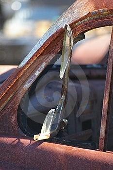 Broken Side Window Stock Photo - Image: 876730