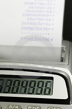 Paper Roll Of A Desk-top Calculator 02 Royalty Free Stock Photo - Image: 877525