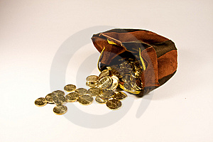 Full Bag Of Euro Royalty Free Stock Photos - Image: 8700868