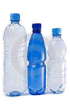 Bottles Of Water Isolated On The White Background Royalty Free Stock Photo - Image: 8702045