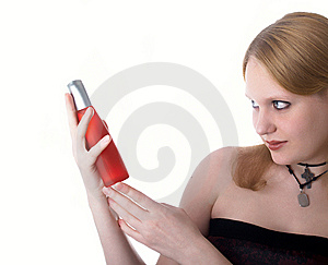 Cosmetics Jar In A Hand Stock Image - Image: 8703831