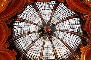 Ceiling In Galleries Lafayette V2 Royalty Free Stock Image - Image: 8704376