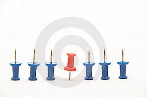Blue Push-pins Stock Image - Image: 8706551