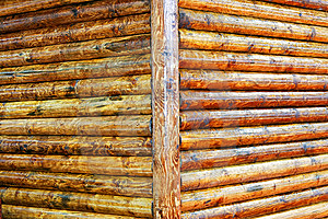 Log Corner Royalty Free Stock Photos - Image: 8708888