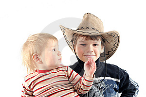 Two Little Boys (brothers) Stock Photos - Image: 8710943