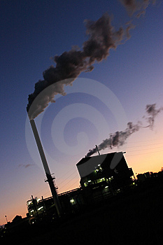 Sugar Mill Smoke Stacks Sunset Stock Images - Image: 8713974
