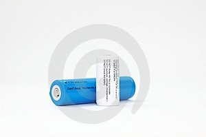 Blanc Bleu De Batteries Photos stock - Image: 8714453
