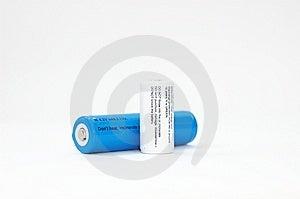 Baterias Brancas E Azuis No Branco Fotos de Stock - Imagem: 8714453