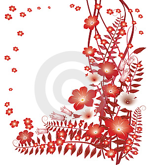 Delicate Red Flowers Royalty Free Stock Photo - Image: 8715415